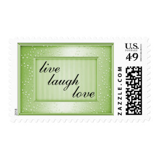 Sage Love Laugh Live or Your Text Stamp