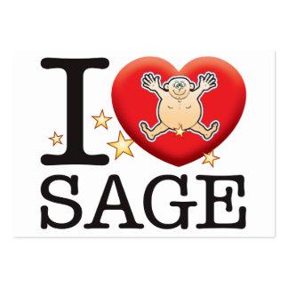 Sage Love Man Large Business Card