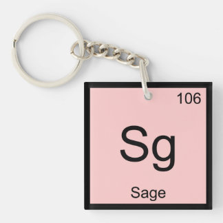 Sage Name Chemistry Element Periodic Table Keychain