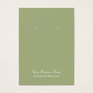 Sage Olive Green Plain Simple Custom Earring Card