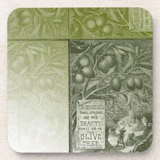 Sage Olive Tree Beverage Coaster