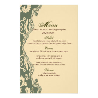 sage paisley vintage western country wedding stationery