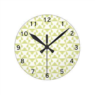 Sage Pinwheels Round Clock