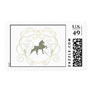 Sage Saddlebred Postage Stamp