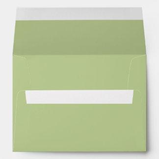 Sage Solid Color Envelope