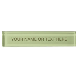 Sage Solid Color Name Plate