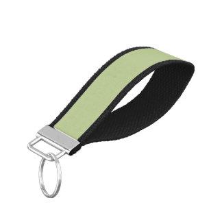 Sage Solid Color Wrist Keychain
