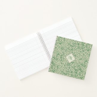 Sage Spring Meadow Personal Floral Square Notebook