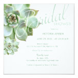 Sage Succulent Garden Bridal Shower Card at Zazzle