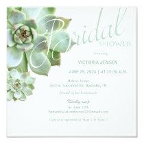 Sage Succulent Garden Bridal Shower Invitation