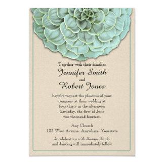 Sage Succulent Wedding Invitation