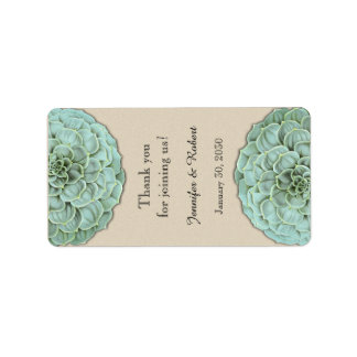 Sage Succulent Wedding Lip Balm Label