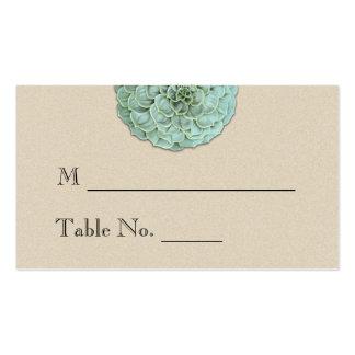 Sage Succulent Wedding Place Cards