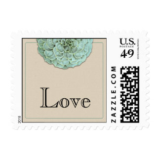 Sage Succulent Wedding Postage Stamp