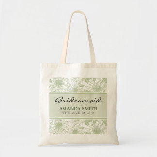 Sage Sunflowers Personalized Wedding Party Bag