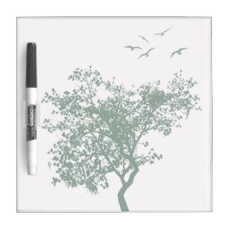 Sage - Tree With Birds Dry-Erase Board