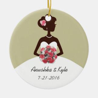 Sage Wedding Gown Bridesmaid Ornament