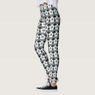 Sage-White--Mod-Floral-School-Work_XS-XL Leggings