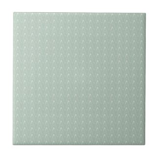 Sage with White Wavy Print Ceramic Tile