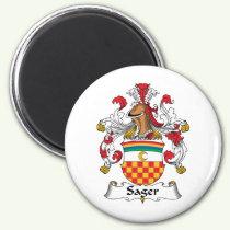Sager Family Crest Magnet