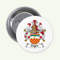 Sager Family Crest Button
