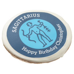 Saggitarius Zodiac sign personalized birthday Sugar Cookie