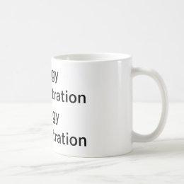 saggy demonstration coffee mug
