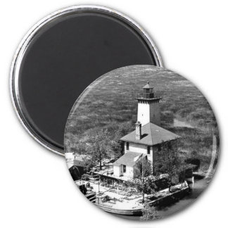 Saginaw River Rear Range Lighthouse 2 Inch Round Magnet