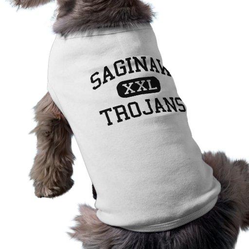 Saginaw - Trojans - High School - Saginaw Michigan Doggie Tee Shirt