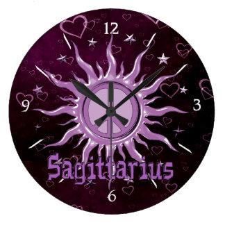 Sagitario de Sun de la paz Relojes De Pared