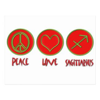 Sagitario del amor de la paz tarjetas postales