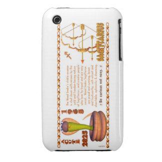 Sagitario del zodiaco de la serpiente de madera iPhone 3 protectores