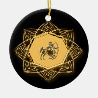 ¡Sagitario del zodiaco - modifiqúelo para requisit Ornamento Para Arbol De Navidad