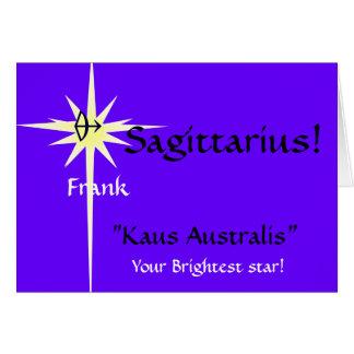 "Sagitario, ""Kaus Australis-Custo… - Modificado Tarjeta De Felicitación"