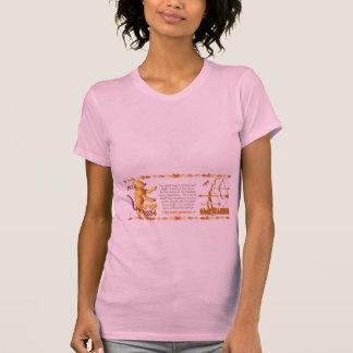 Sagitario llevado tigre de madera 1974 del zodiaco camisetas