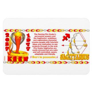 Sagitario llevado zodiaco de la serpiente del fueg imanes de vinilo
