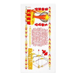 Sagitario llevado zodiaco de la serpiente del fueg tarjetas personales