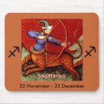 Sagitario Mousepad del zodiaco Alfombrilla De Raton