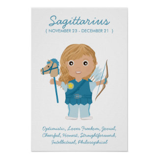Sagitario - poster del horóscopo del chica