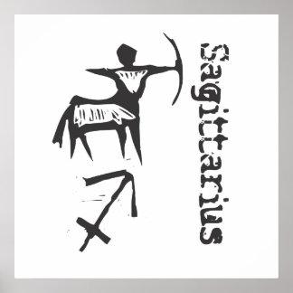 Sagitario primitivo de la muestra del zodiaco posters