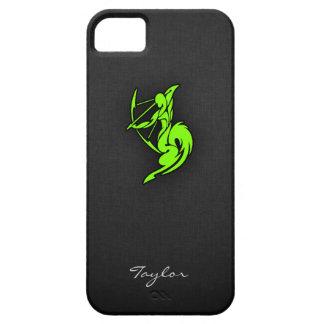 Sagitario verde chartreuse, de neón iPhone 5 funda