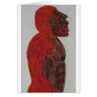 Sagittal giant man rf greeting card