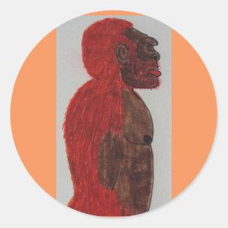 Sagittal giant man rf classic round sticker
