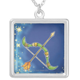 Sagittarius 2 silver plated necklace