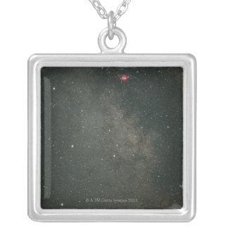 Sagittarius and Milky Way 2 Square Pendant Necklace