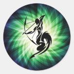 Sagittarius; Archer Classic Round Sticker