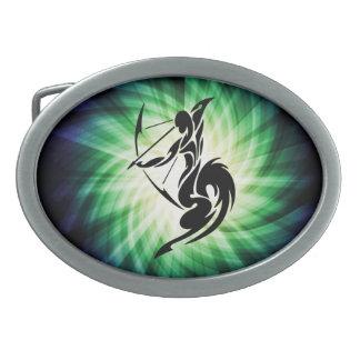 Sagittarius; Archer Oval Belt Buckle