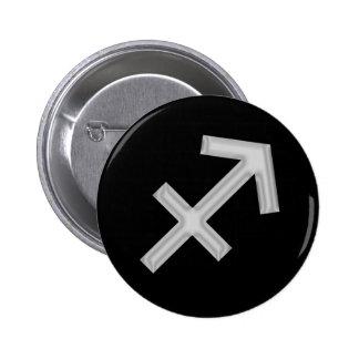 Sagittarius Archer Zodiac Button