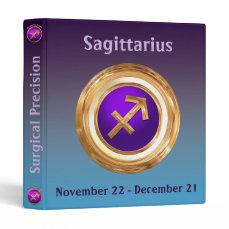 Sagittarius Astrological Sign 3 Ring Binder
