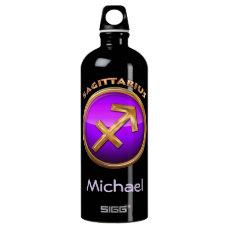 Sagittarius Astrological Sign Aluminum Water Bottle